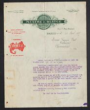 "PARIS (XVII°) USINE D'OUTILLAGE / MOYEU Torpedo ""MESTRE & BLATGE"" en 1907"