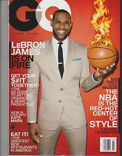 GQ MAGAZINE March 2014, Lebron James is on Fire.
