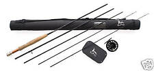 FLY FISHING ROD HI END COMBO 8ft, LW4, 4 SEC Rod,Fly Reel,Lines,50 Flies boxed