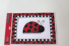 "Scrapbooking Die-Cuts By O'Scrap Frames~Red/Black Dots~One 4 3/4""x 6"" Sheet New"