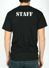 T Shirt nera STAFF maglietta nera con scritta STAFF sul retro