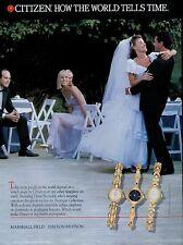 1993  CITIZEN WATCHES : Wedding   Magazine PRINT AD