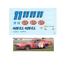 #11 Buddy Baker 1972 STP Charger 1/64 scale decal AFX Tyco Lifelike Autoworld