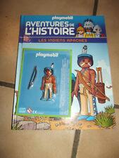 """playmobil livre """"aventure de l'histoire """" indien apache"""