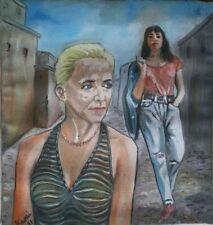 Peintures du XXe siècle et contemporaines huile sur toile scène de genre