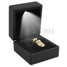 Deluxe LED Lighted Earring Ring Gift Box Wedding Engagement Ring Jewelry Display