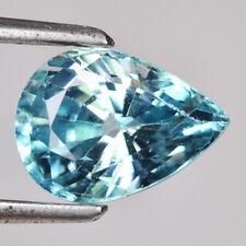 Zircon bleu en poire facetté de 2.53Cts