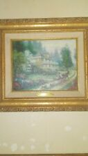 thomas kinkade ,vintage limited edition , sunday at apple hill painting