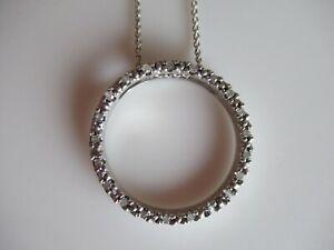 STERLING SILVER & DIAMOND ETERNITY PENDANT