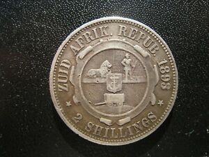 South Africa Two Shillings 1893.