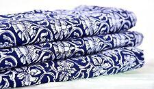 Indische Blumen Nähende Schneiderei Natürlicher Baumwoll Stoff Siebdruck Dekor