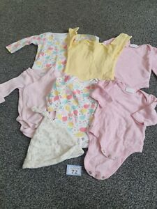 Baby Girls Up To 1 Month Long Sleeve Winter Vests / Bodysuits (B72)