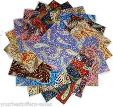 Charm Packs Quilting Fabric Paisley Fabric Colorful Quilting Fabric Squares 5''