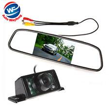 Rétroviseur avec Ecran TFT LCD 4,3 pouces + Caméra de recul pour Voiture HD CCD
