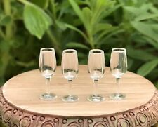 Miniature Dollhouse FAIRY GARDEN ~ 4 TINY Plastic Champagne Glasses Flutes