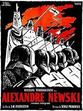 Affiche de Cinéma Originale 60 X 80  Du Film Alexandre Newski.