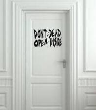 """Don't Open Dead Inside from The Walking Dead Wall Decal- Black (20"""" X 10"""")"""