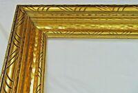 """VINTAGE BIG FITS 18"""" X 24"""" GOLD GILT COUNTRY PRIMITIVE WOOD FRAME FINE ART"""