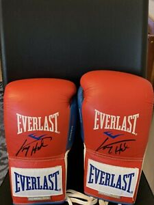 Larry Holmes Signed Pair Of Boxing Gloves Everlast Powerlock 10oz REAL Gloves