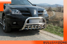 MITSUBISHI OUTLANDER 01-06 TUBO PROTEZIONE MEDIUM BULL BAR INOX STAINLESS STEEL