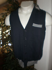 NWT ARGYLECULTURE BY RUSSELL SIMMONS FULL BUTTON SWEATER VEST SZ:S