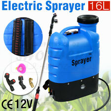 16L Electric Rechargeable Battery Weed Sprayer Backpack Farm Garden Pump Spray
