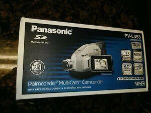 Panasonic VHS-C Palmcorder Multicam Camcorder PV-L453 OPEN BOX PHOTO SERIAL# NEW