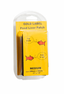 Gold Label Pond Liner Butyl Rubber Repair Patch Medium 280mm x 190mm