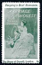 """England Poster Stamp - Advertising Romance Novel """"Marriage By Conquest"""""""