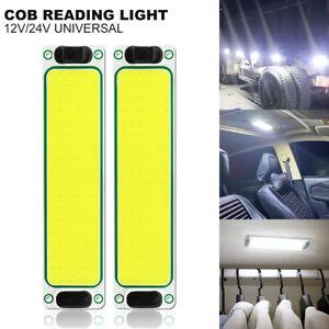 2X COB LED Truck Signal Car interior Light Desk Wardrobe Staircase Outdoors Lamp