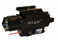 HiLight P10C QR QD Pistol 500lm Flashlight & Red Laser Combo