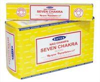 Satya Sai Baba Seven Chakra Nag Champa 100G Grams Yoga Incense Sticks FREE SHIP