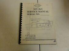 Versalift SST-36-I Service Manual   22008-01   02-98