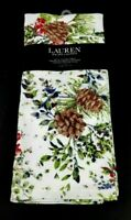 New Ralph Lauren Set Of 2 Kitchen Towels Holiday Pine Cones