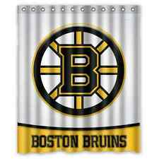 "Personalized Boston Bruins Hockey Waterproof  60"" x 72"" Shower Curtain Bath"