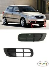 SKODA FABIA 2007 - 2010 NEW FRONT BUMPER LOWER FOG GRILL COVER LEFT + RIGHT