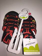 JUMPING BEANS Toddler Boys' Sport Sandals BLACK/RED Size 5T NEW Tags