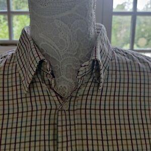Men's Medium Viyella Cotton Long Sleeved Shirt.