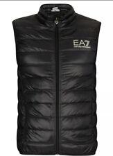 Men's Latest EA7 Emporio Armani Quilted Padded Waistcoat Sleeveless Black 2019