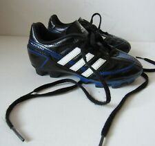 ADIDAS Little Kid Toddler 11 Soccer Cleats Black Blue White Outdoor