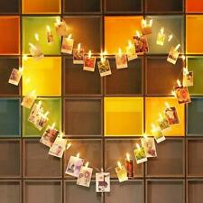 LED Photo Clip String Lights 10/40/50 Hanging Peg Clips Fairy Christmas Cards