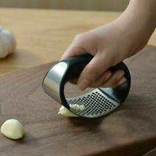 Stainless Steel Garlic Press Crusher Manual Rocking Tool A7V1 Kitchen Q3F0