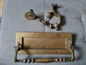 Antique Brass Door nocker And Letter Box