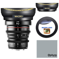 HD FISHEYE LENS + MACRO FOR Meike 12mm T2.2 Manual Focus Wide Angle Cinema Lens