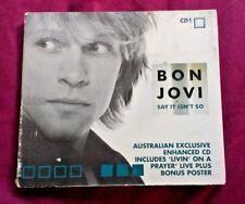 BON JOVI - SAY IT ISN'T SO - CD1 SINGLE plus POSTER
