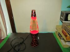 Vintage Lava Lamp Leopard With Red Wax