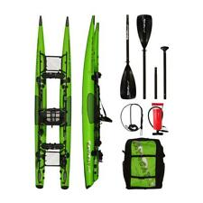 KAYACAT PUMA Inflatable Kayak in a Backpack JUST 6.8kg in  NEON GREEN