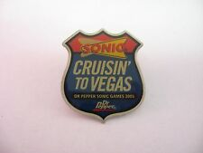Lapel Hat Pin: SONIC CRUISIN' TO VEGAS Dr. Pepper Sonic Games 2005