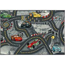 Kids street carpet Mc Queen of Cars 95x133 cm grey