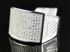 Diamond Band Sterling Silver Rings for Men